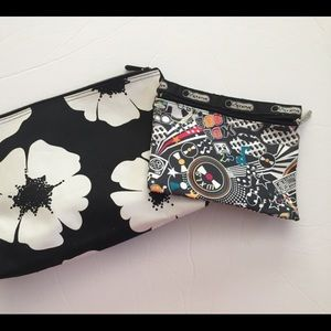 Set of two makeup bags. Lesportsac and unbranded